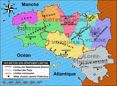 Carte Des Villes Du Pays Vannetais