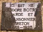 plaque commemorative theodore botrel dinan