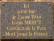 plaque commemorative louis mehut dinan
