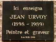 plaque commemorative jean urvoy dinan
