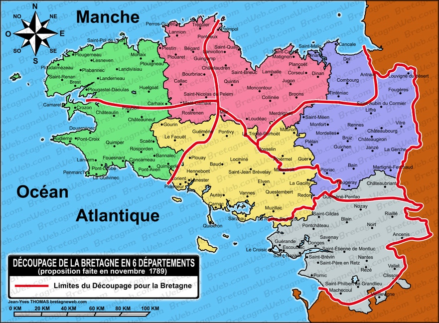 Carte Bretagne Avec Departement.Revolution Francaise En Bretagne Bretagneweb Com